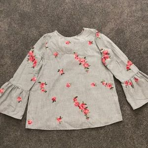 Adorable bell sleeve top